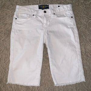 White Lucky Brand Bermuda Shorts